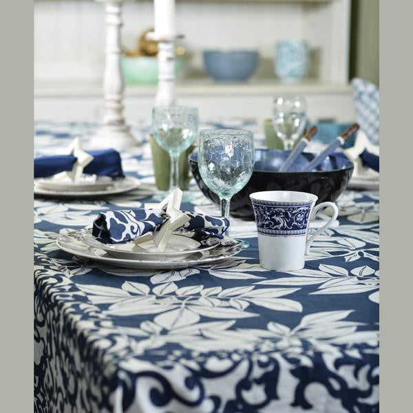 Runners & Tablecloths - Indigo Leaf Tablecloth in 2 sizes