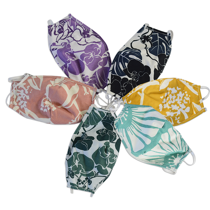 Three Layer Cotton Masks | Assorted Florals set/2 (2 sizes)