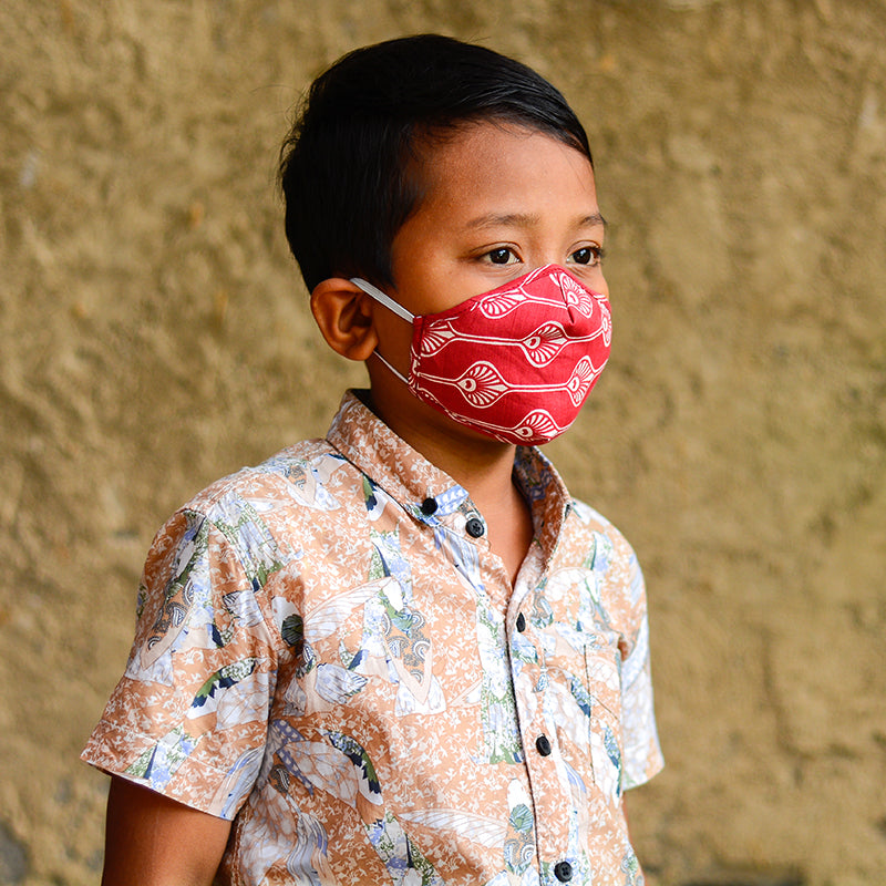 Three Layer Cotton Mask | Case pack/3 - Child Size