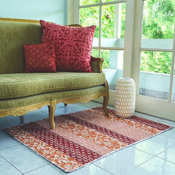 Corduroy Carpet - Tropical Frangipani, 2 Sizes