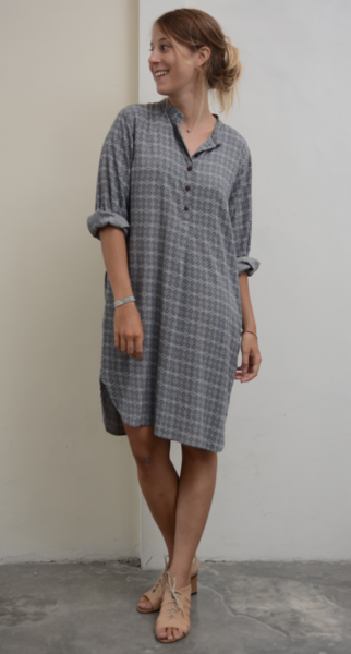 Blouse Dress | Coffee Bean Stormy (3 Sizes)