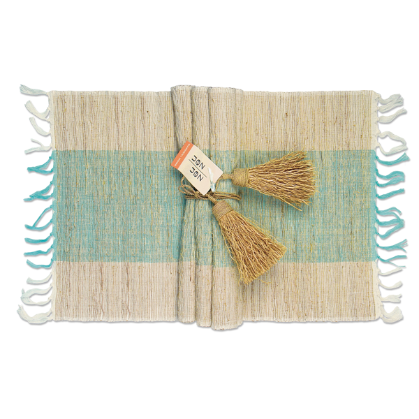 Placemat - Turquoise, Zen Vetiver - Set of 6