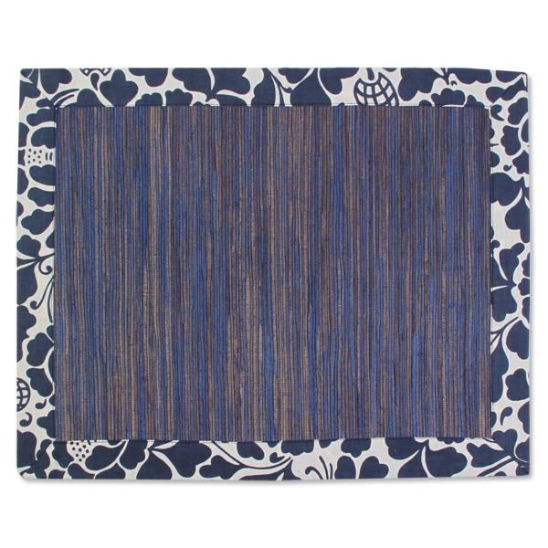 Placemat - Indigo Prada Waterlily - Set of 4