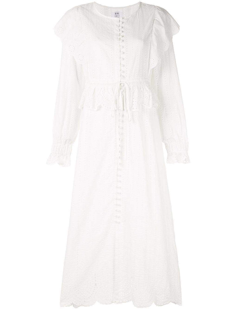 Leila Button Down Midi Dress Robe SIR - The Label