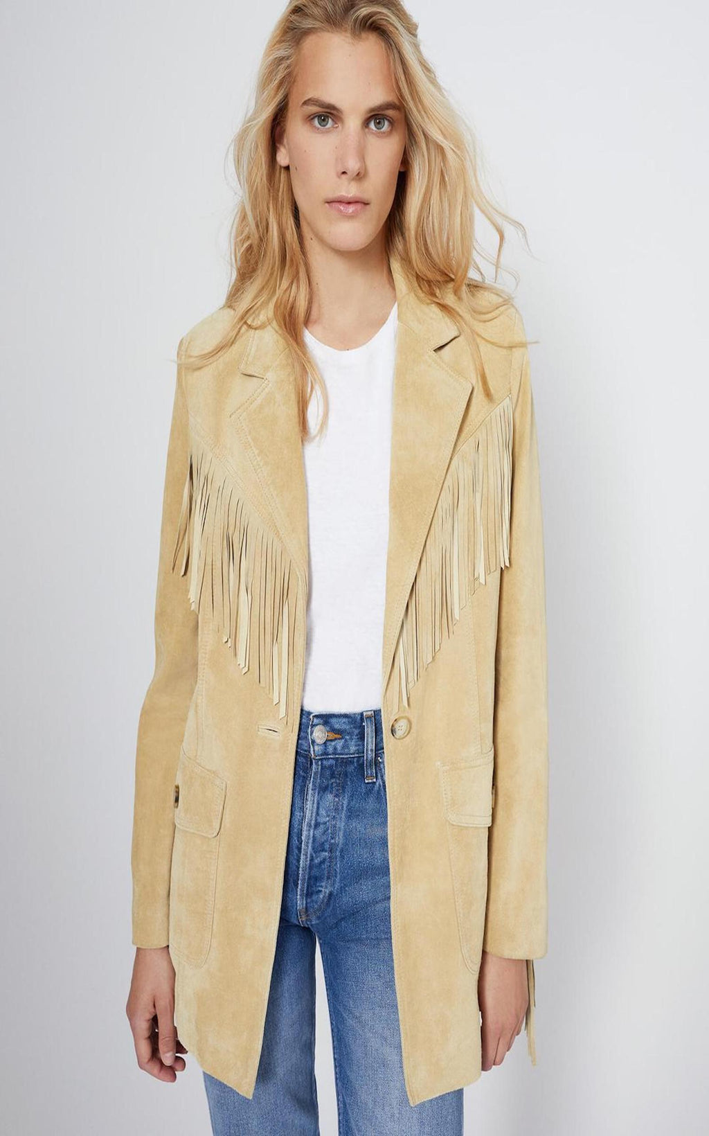 Suede Fringe Blazer - TownHouse Work/Shop