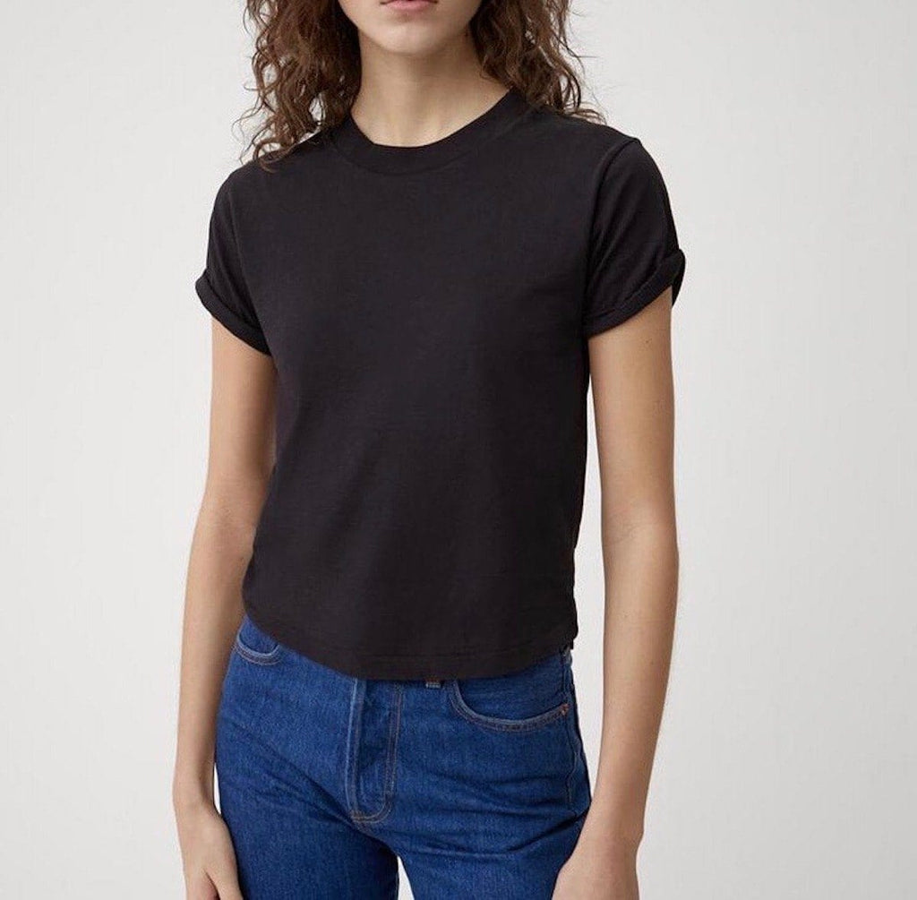 The 70s Rolled Black Sleeve Tee - TownHouse Work/Shop