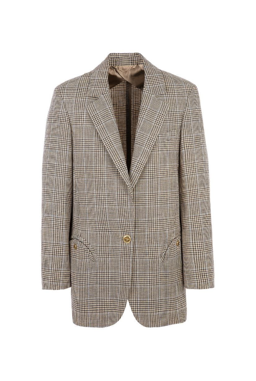 Merit Weekend Plaid Single-Breasted Blazer Veste BLAZÉ MILANO