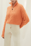 Nanushka Eria Coral Cropped Knit Sweater I TownHouse Work/Shop