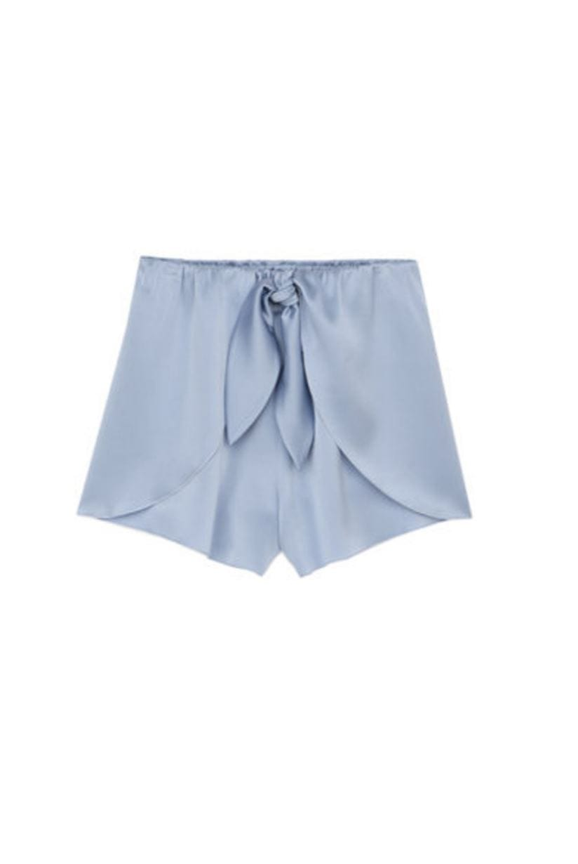 Naila Ice Blue Sleep Satin Short Short NANUSHKA