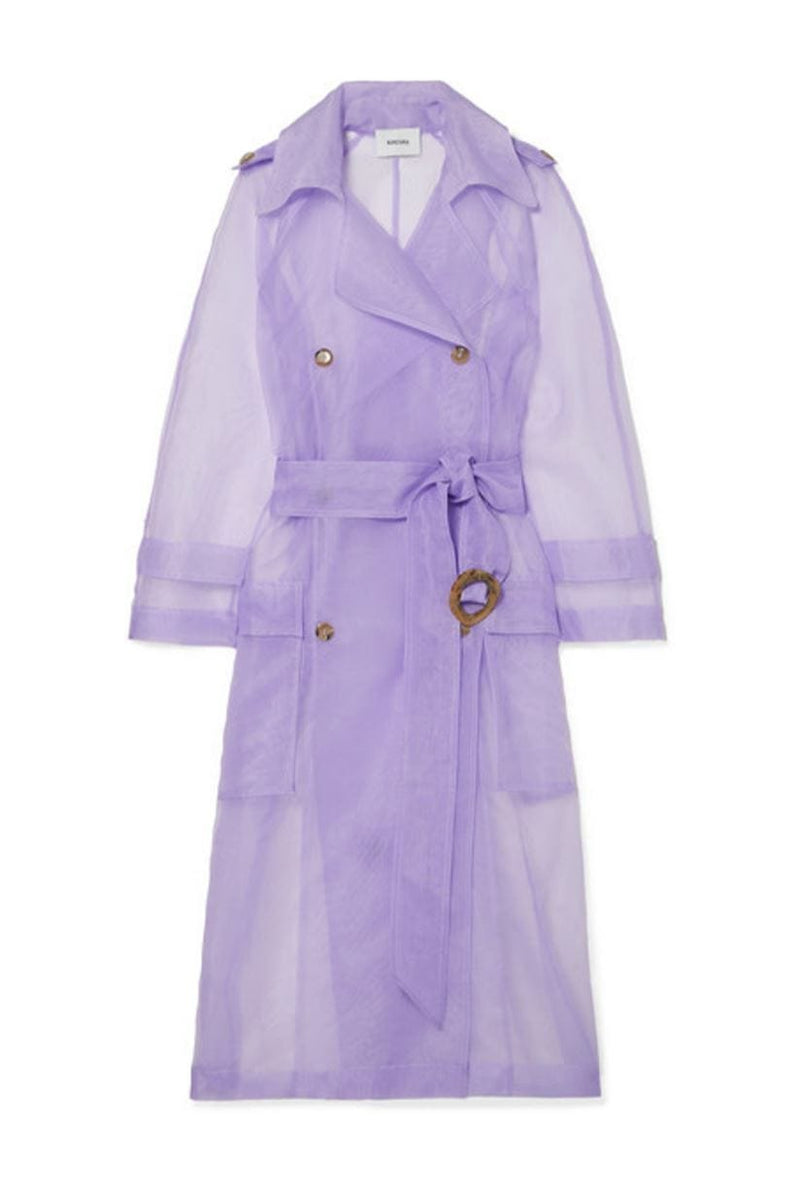 Nanushka Tuscan Double-Breasted Sheer Trench Coat I TownHouse Work/Shop