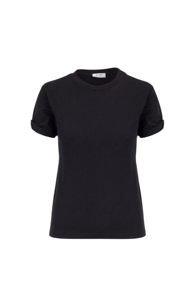 The 70s Rolled Black Sleeve Tee T-Shirt RE/DONE
