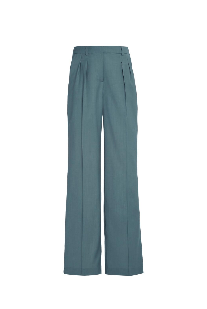 Loulou Studio Sbiru Wool Pleated Wide-Leg Pants I TownHouse Work/Shop