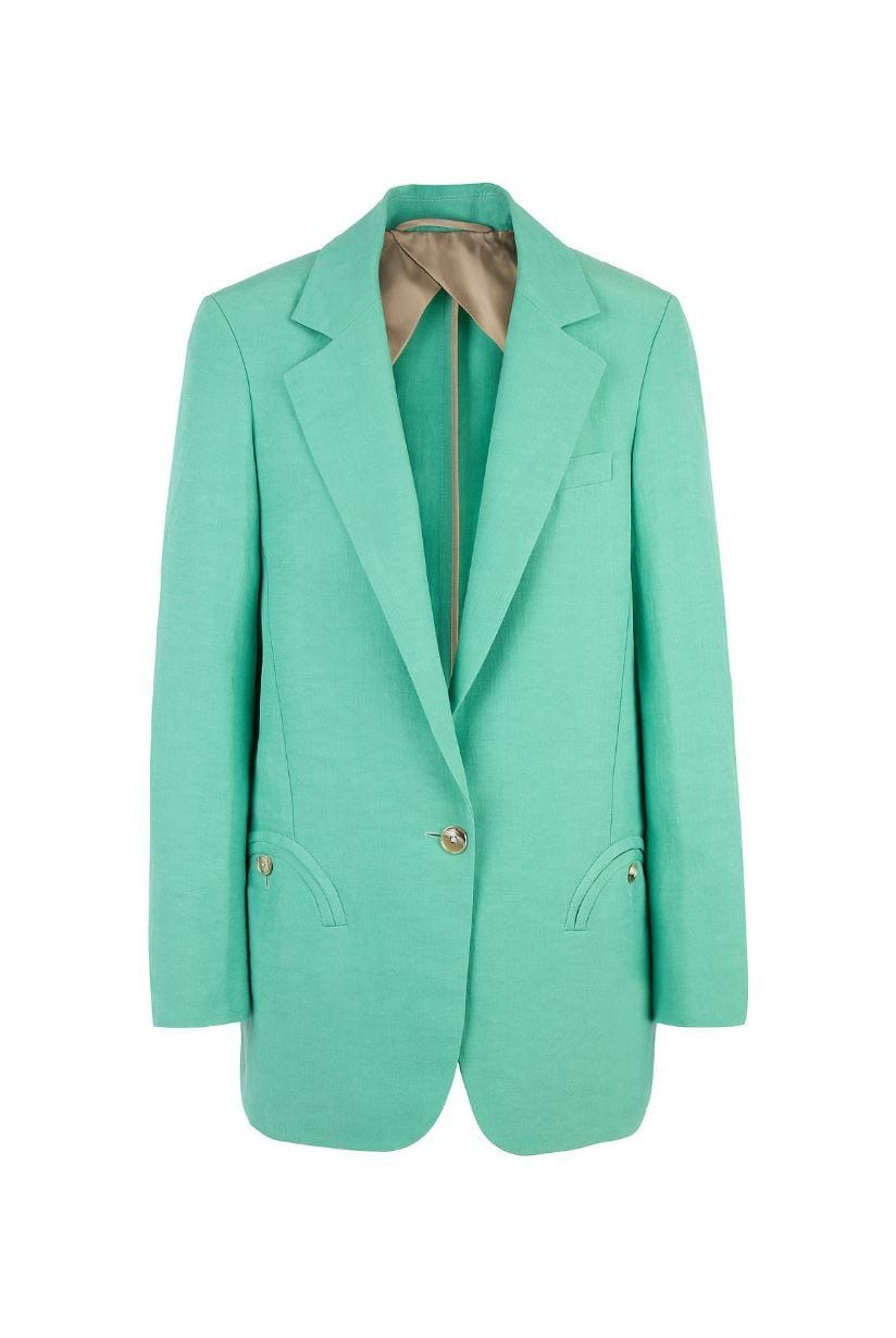 Weekend Single-Breasted Satin Blazer Veste BLAZÉ MILANO