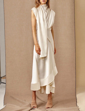 Dalisay Draped Midi Dress - TownHouse Work/Shop