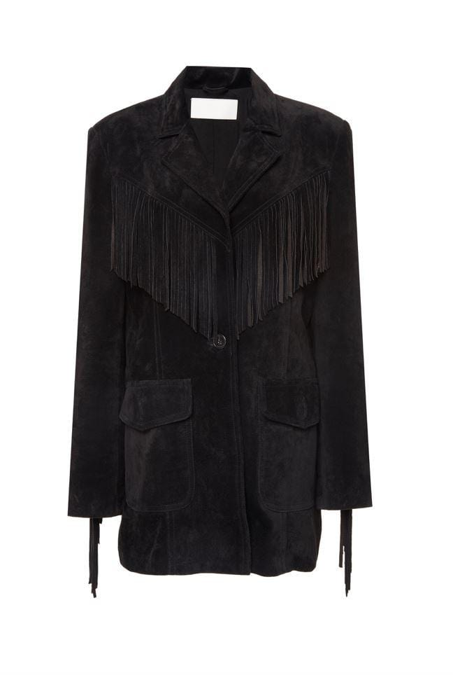 Suede Fringe Blazer Veste RE/DONE