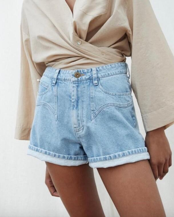 RASA DENIM MINI SHORTS - TownHouse Work/Shop