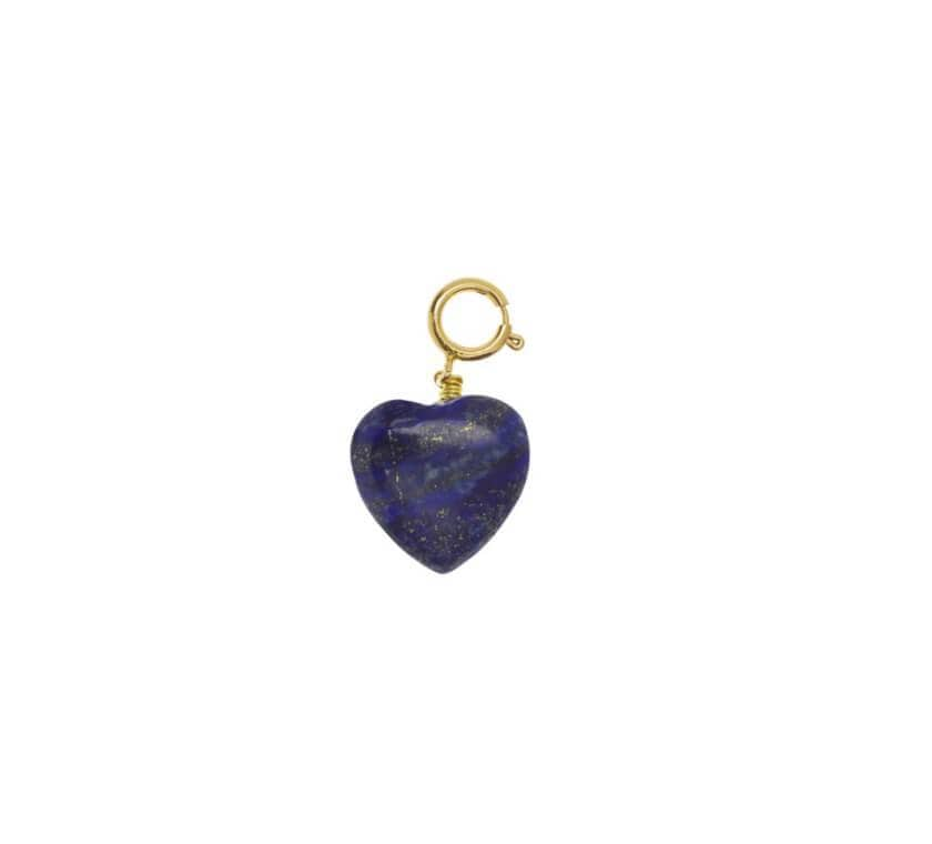 Charms Coeur en Lapis Lazuli Charms TIMELESS PEARLY