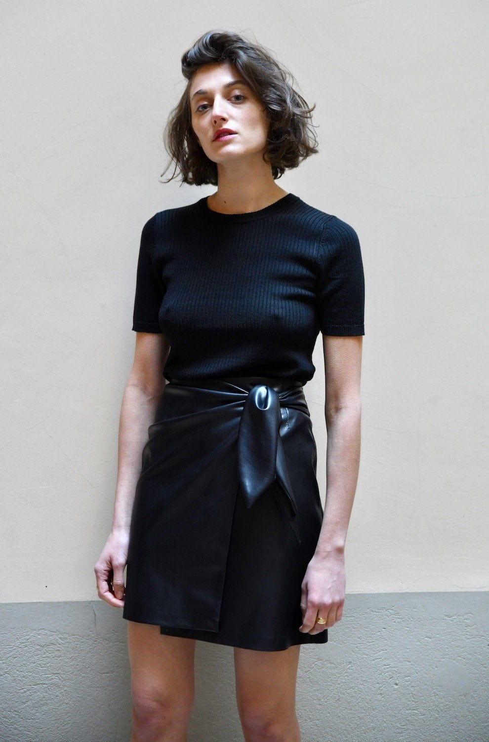 Iowa Faux Leather Skirt - TownHouse Work/Shop