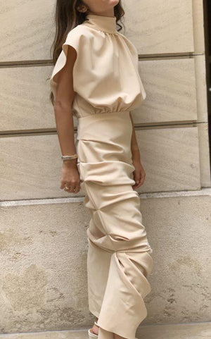 Nude Midi Dress - TownHouse Work/Shop