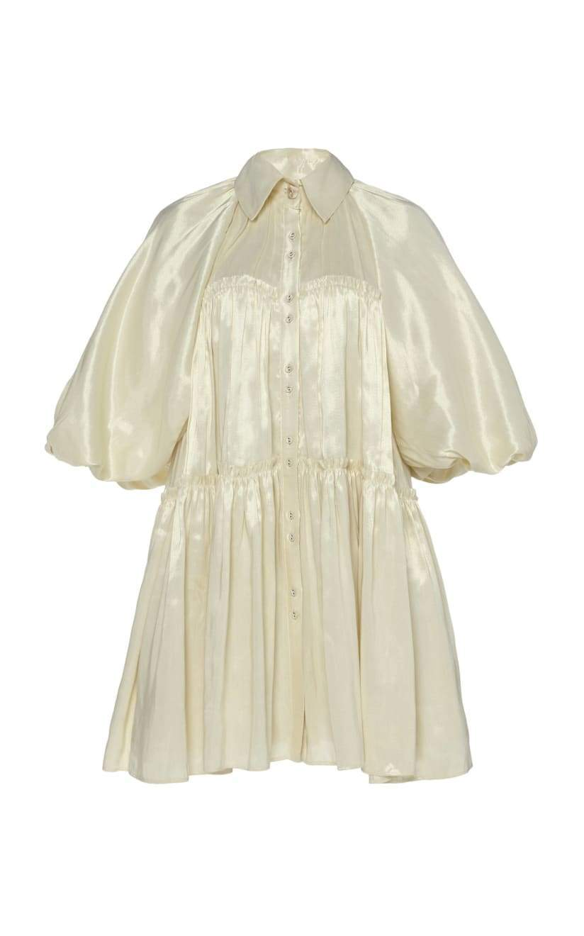 Prima Lamé Circle Mini Dress Robe AJE