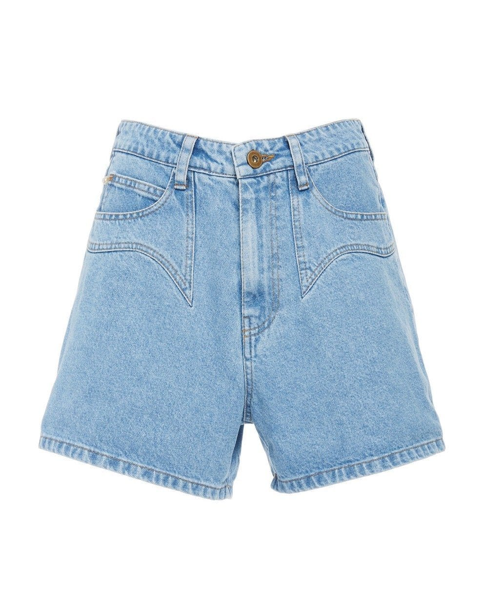 RASA DENIM MINI SHORTS Short NANUSHKA