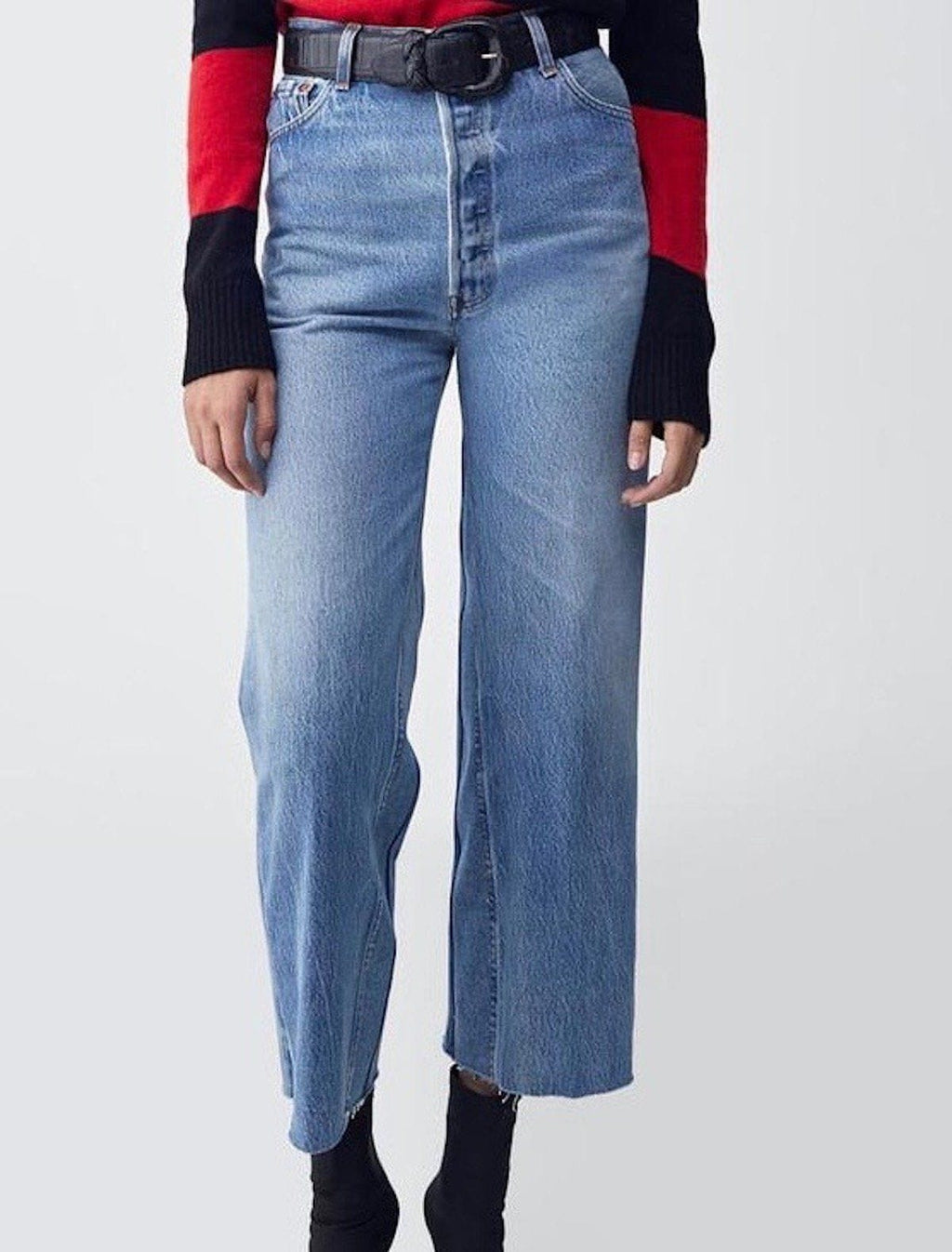 High Rise Wide Leg Crop Jeans RE/DONE