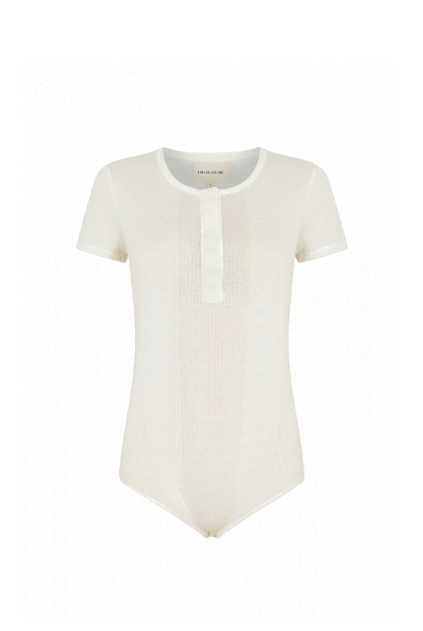 Loulou Studio Hiva Ivory Bodysuit I TownHouse Work/Shop