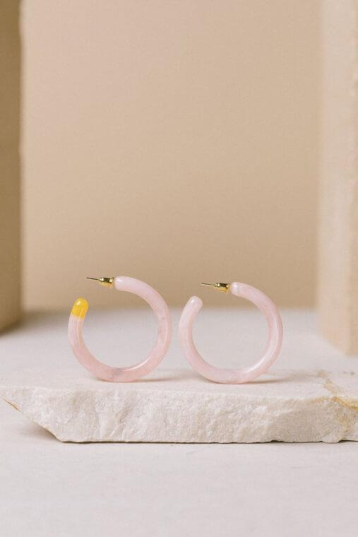 Rhea Pink Earrings - TownHouse Work/Shop