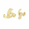 Créole Ruban et Bague d'Oreille Or Jaune 18 carats - TownHouse Work/Shop