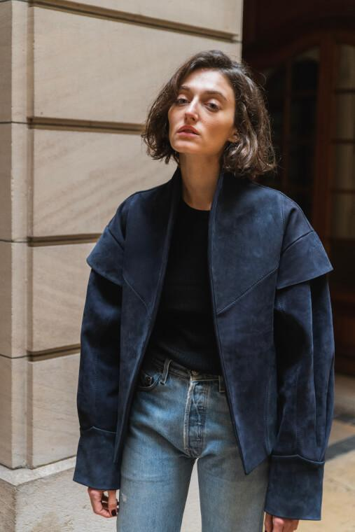 Veste Oversize en Daim - TownHouse Work/Shop