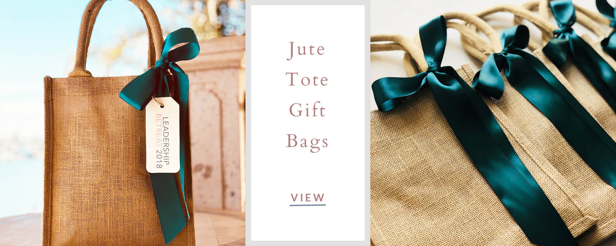 Custom Corporate Gifts - Jute Tote Gift Bag
