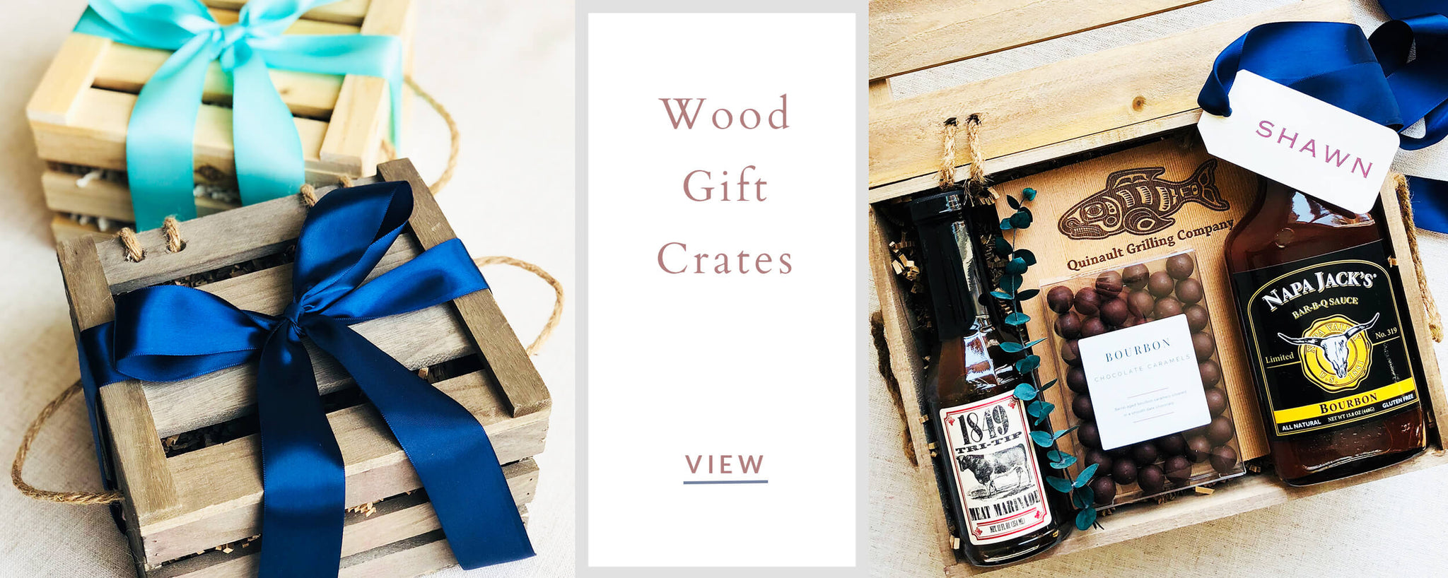 Custom Corporate Gifts - Wood Gift Crates