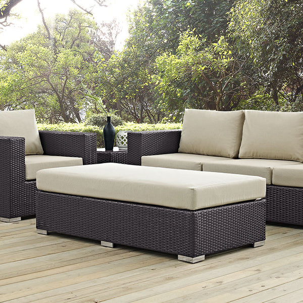 Outdoor Bench & Ottoman