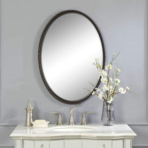Sherise Bronze Oval Mirror - taylor ray decor