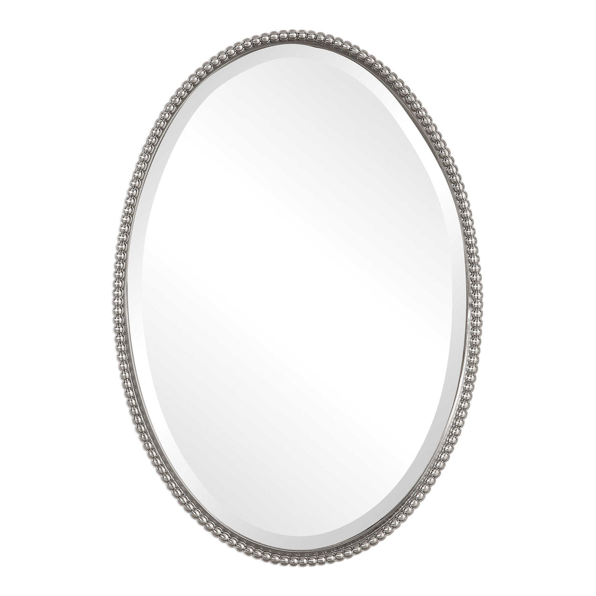 Sherise Brushed Nickel Oval Mirror - taylor ray decor