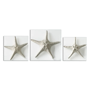 Silver Starfish Wall Art, S/3 - taylor ray decor