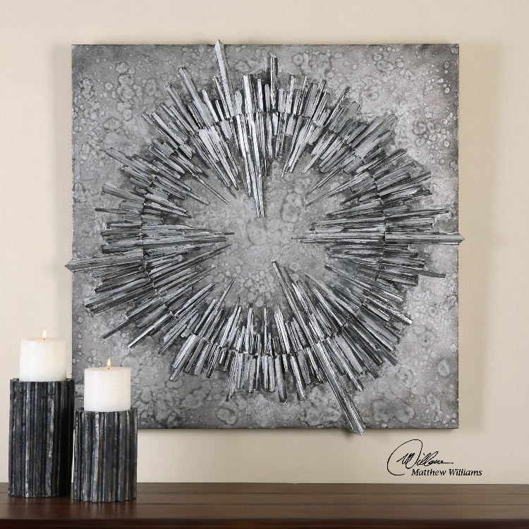 Nebulus Silver Wall Decor - taylor ray decor
