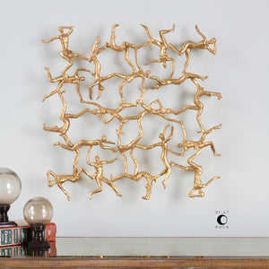 Golden Gymnasts Wall Art - taylor ray decor