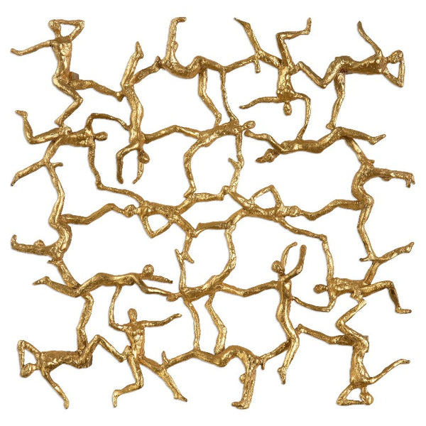 Golden Gymnasts Wall Art