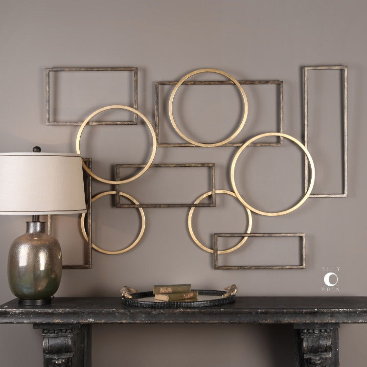 Elias Bronze And Gold Metal Wall Art