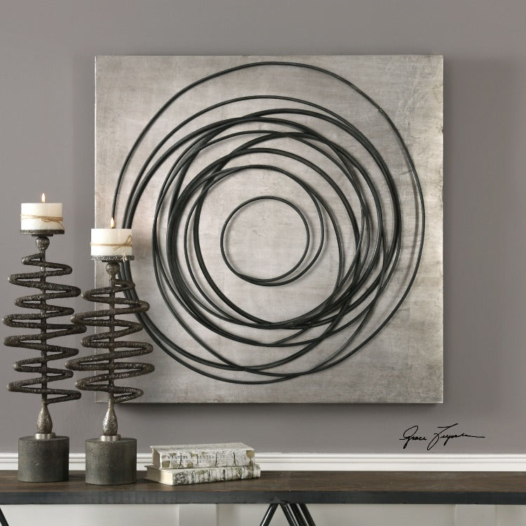 Whirlwind Iron Coils Metal Wall Art