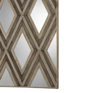 Tahira Geometric Argyle Pattern Wall Mirror