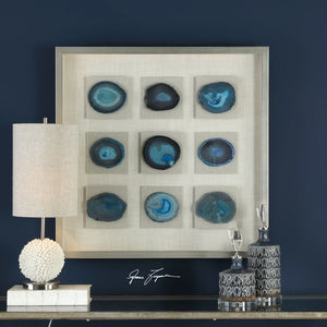 Cerulean Blue Stone Shadow Box - taylor ray decor