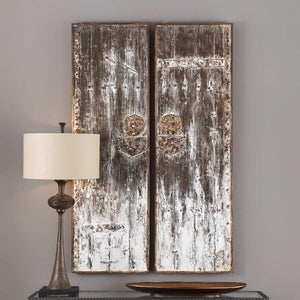Giles Wooden Wall Panels, S/2