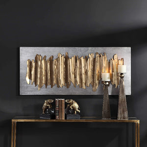 Lev Gold Metal Wall Decor