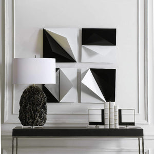 Origami Metal Wall Decor, S/4