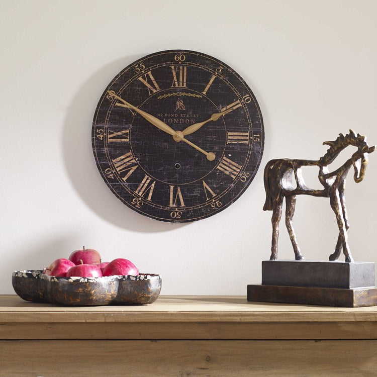 "Bond Street 18"" Black Wall Clock - taylor ray decor"
