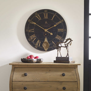"Bond Street 30"" Black Wall Clock - taylor ray decor"