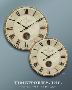 "Shown with Harrison Gray 23"" Wall Clock #06032 (sold separately)"