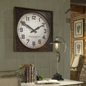 Warehouse Wall Clock W/ Grill - taylor ray decor